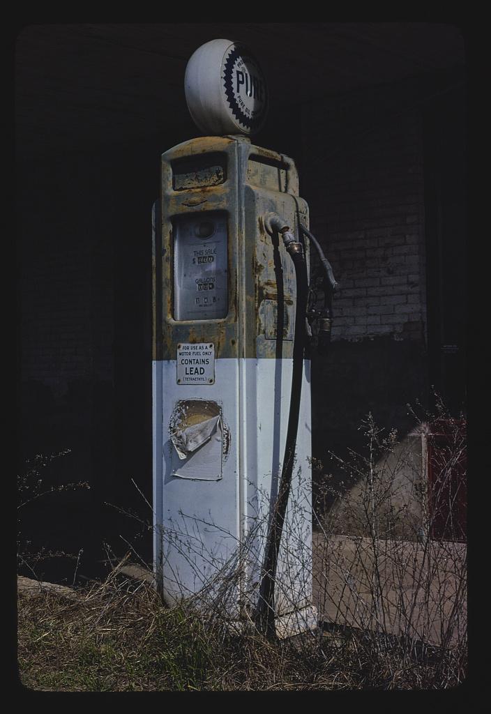 Pure gas pump, Route 82, Willacoochee, Georgia (LOC)