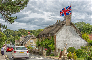 On the Island of Wight is a country with thatched roofs ... (1)
