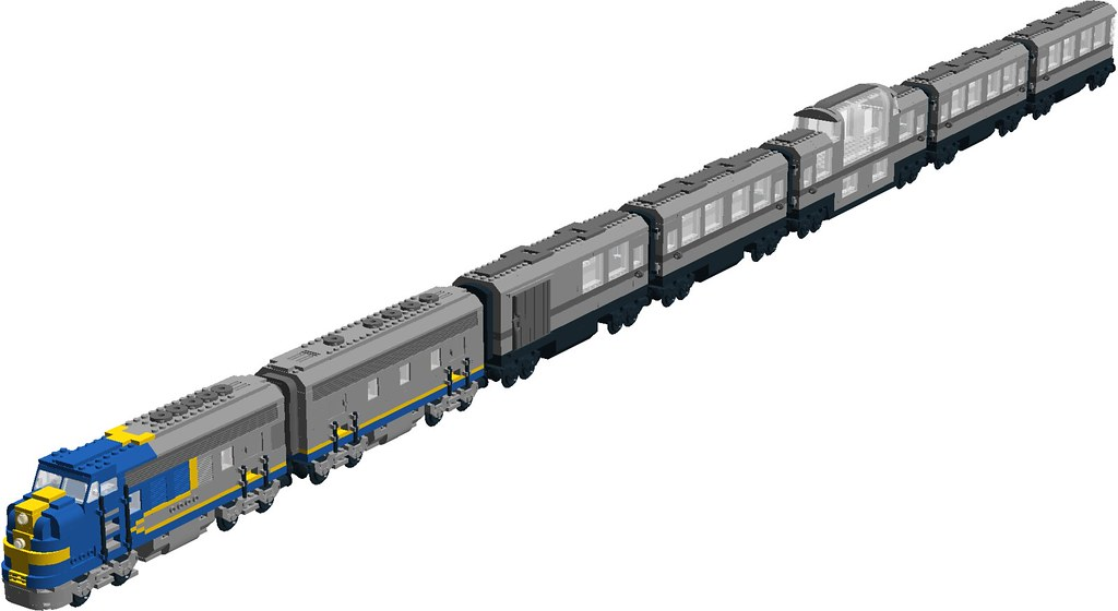 Santa Fe Passenger Train F7 Bluebonnet A B Diesel Units Flickr