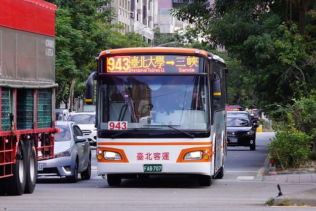 臺北客運 943路 FAB-707