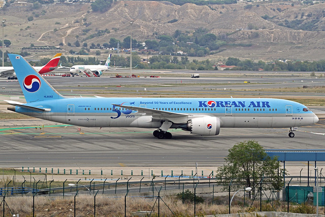 Korean Air Boeing 787-9B5 HL8082 MAD 17-10-19