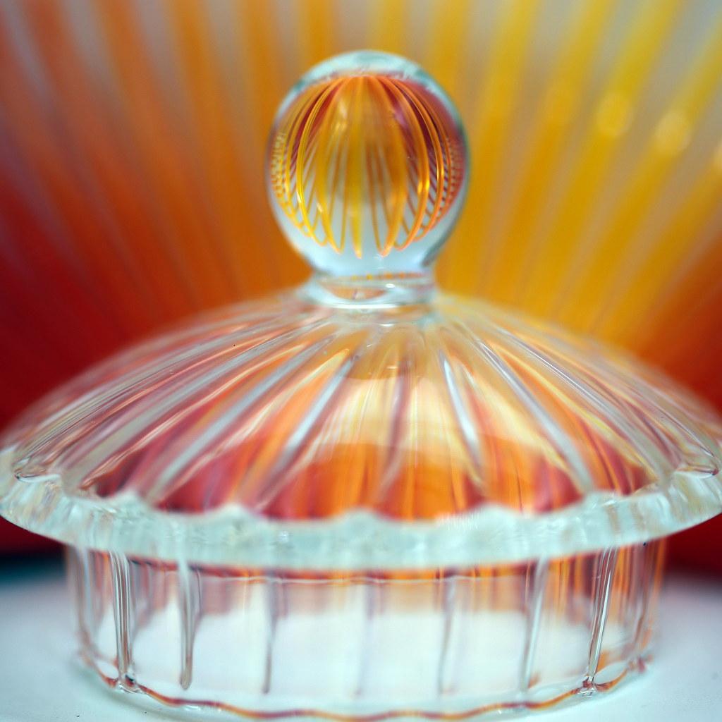 Couvercle d'une théière en verre