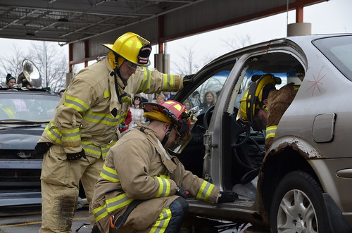 Meridian Township Fire Department Participates in Car Cutting Competition