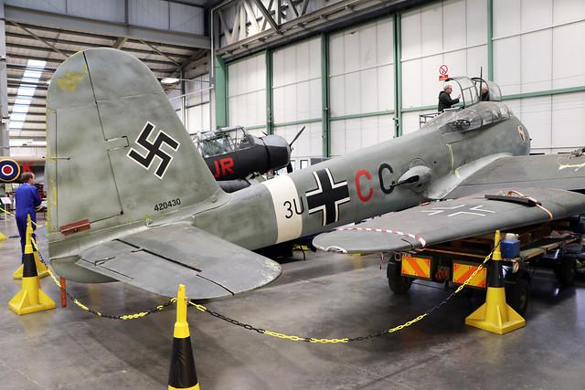 420430 (3U+CC)  -  Messerschmitt Me 410-A1 Hornisse  -  Luftwaffe  -  RAF Museum Cosford 15/11/19