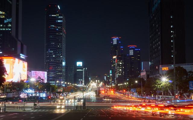 Gangnam at night, Seoul