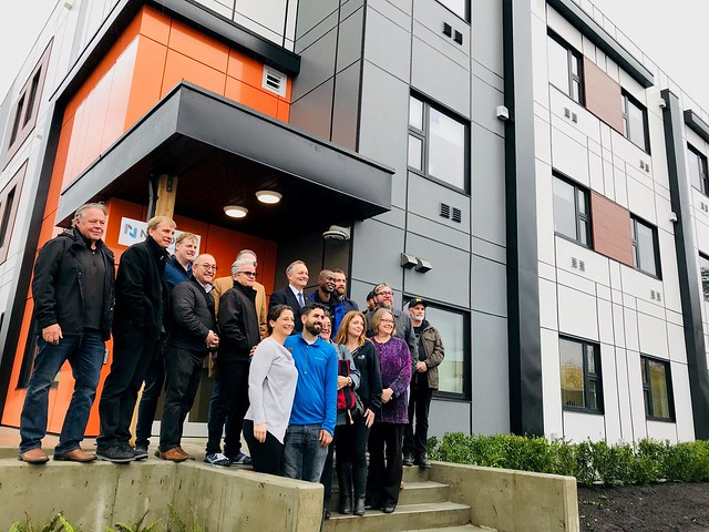 Opening of modular housing project in Chilliwack at Tretheway Ave.