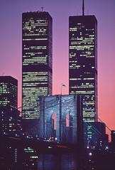 Brooklyn Bridge and Twin Towers, New York City