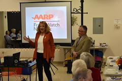 Reps. Kokoruda and Candelora host AARP Fraud Prevention Seminar at Durham Senior Center.