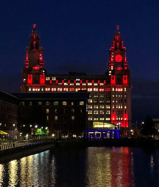 The Liver building at night