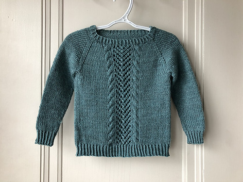 Another lovingly knit sweater knit by Lise for her granddaughter. The pattern is French Twist by Dani Sunshine!