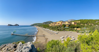 Aerial view of Robinson Club Sarigerme Park and its private beach, Turkey | by dronepicr