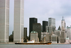 View west from Exchange Place, Jersey City, November 1977
