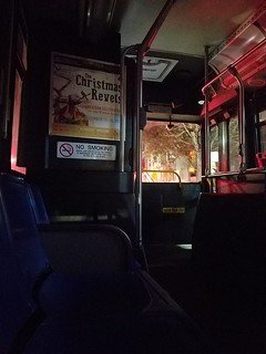 11-15-2019: When there's no lights on for half of your bus ride. Cambridge, MA