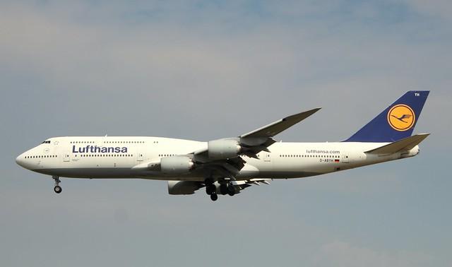 Lufthansa, D-ABYH, MSN 37832, Boeing 747-830, 25.05.2019,  FRA-EDDF, Frankfurt (Named: Thüringen)