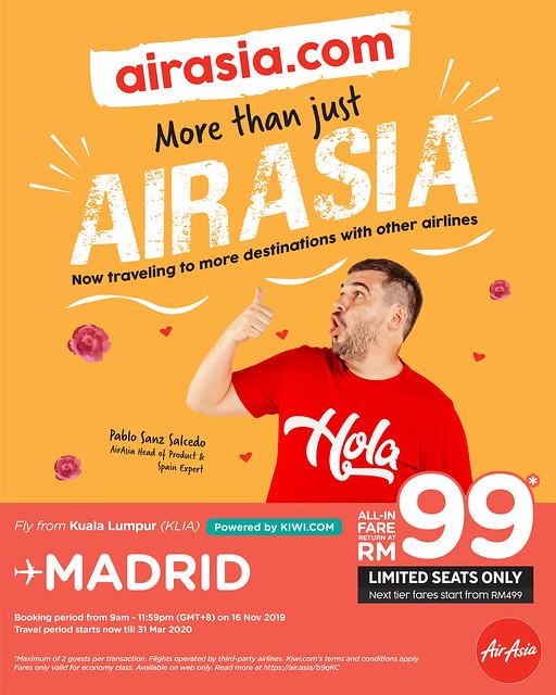 Airasia Tawar Penerbangan Daripada Syarikat Lain Di Airasia.com