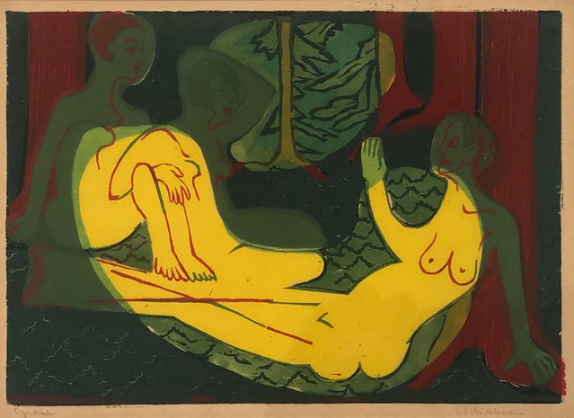 1933, Ernst Ludwig Kirchner, Three Nudes in the Forest
