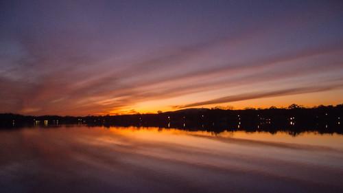 smack53 sunset evening eveningsky paintedsky sky clouds water lake reflections autumn autumnseason fall fallseason nikon coolpix p7000 nikonp7000 nikoncoolpixp7000 newjersey parsippany lakeparsippany