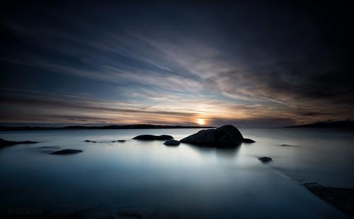 republicofireland countygalway connemaranationalpark longexposure sunset seascape clouds rocks beach whitesands qthompson leefilters marumidhgcpl