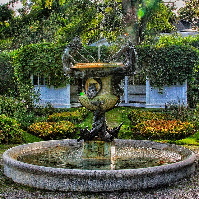 Brockville Ontario -  Canada  - Fulton Place - Heritage Trust - Water Fountain