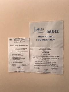 L'AMBULATORIO INFERMIERISTICO È SENZA PAZIENTI_AMBULATORIO SERVIZI