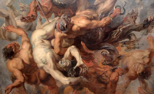 Pieter Paul Rubens (Siegen, 28 giugno 1577 – Anversa, 30 maggio 1640) - La caduta degli angeli ribelli (1621-1622) Dimensioni 438 x 291,5 cm cm - Alte Pinakothek Monaco di Baviera