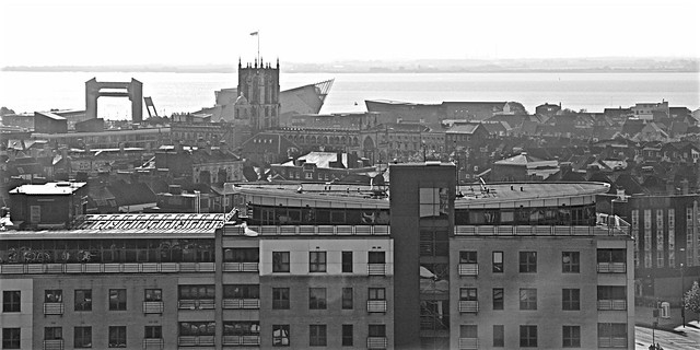Over the roof tops Monochrome