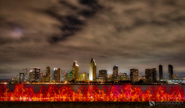 Light Painting at Coronado