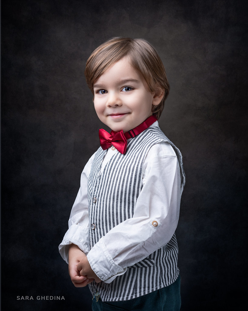 Boy with a bow tie