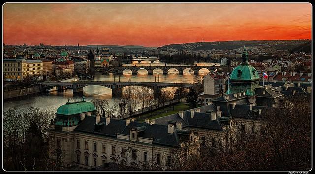 Praha - Prague_Vltava river_Prague bridges_Czechia
