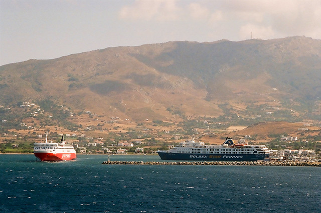 Ferries at Gavrio, Andros