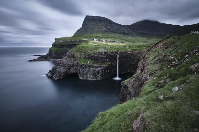 Gasadalur. Vagar Island. Faroe Island Landscape.