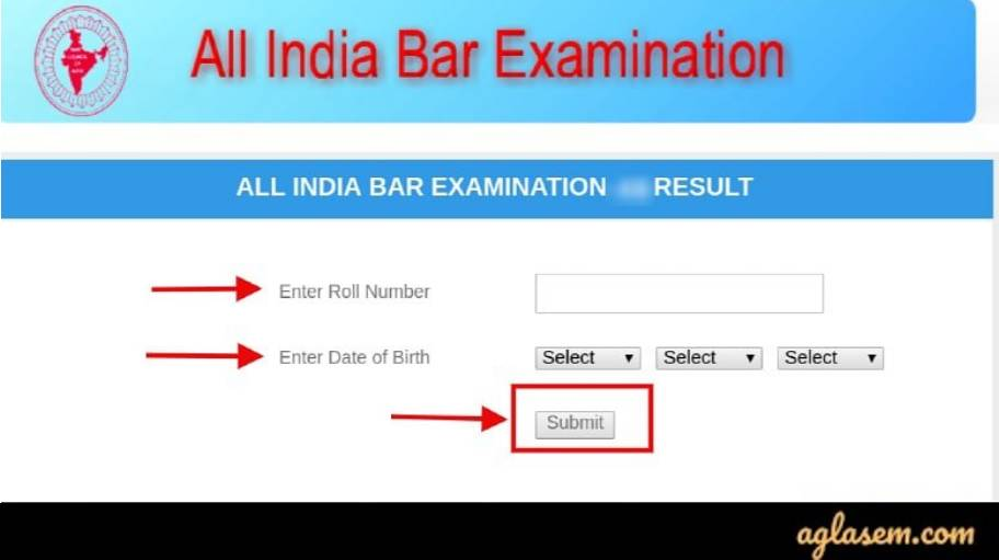 AIBE 2019 Result Window