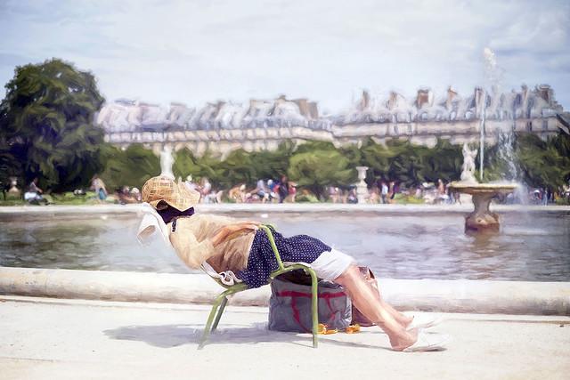 Sieste parisienne (effet peinture)