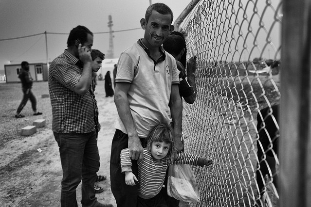 Behind the fence. Refugee camp Iraq