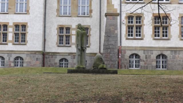 1986 Frankfurt/O. Antifaschistischer Widerstand von Arndt Wittig Granit B5 Rosa-Luxemburg-Straße in 15230
