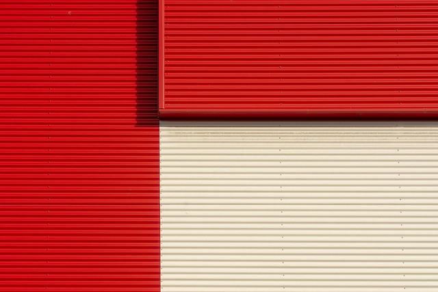Lines in red and white