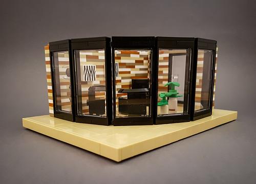 Curry House MOC. Livingroom module.