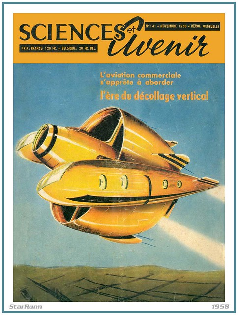 Rotating Ring-Wing VTOL Transport - Sciences et Avenir - 1958