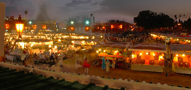 Marrakesh - Central square open market