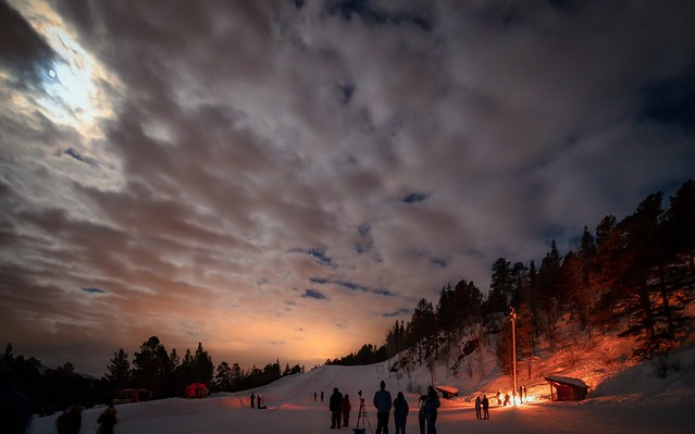In search of Northern Light: Sarves Alta ski resort was too cloudy and full moon, Norway-46a