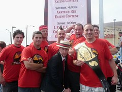 Pro Eater McKirdy with Joey Chestnut