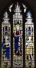 The Risen Christ flanked by St John the Evangelist and St John the Baptist (Ninian Comper, 1914)
