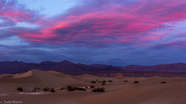 Sunset in Death Valley National Park