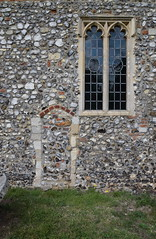 south chancel wall with blocked door