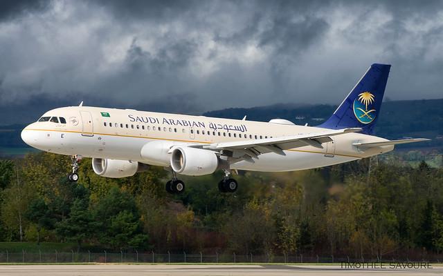 GVA | Saudi Arabian Airbus A320 | HZ-ASE