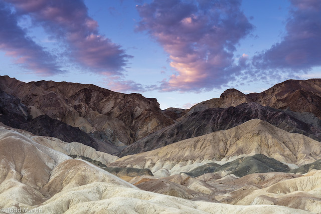 Sunrise in 20 Mule Team Canyon, Death Valley National Park