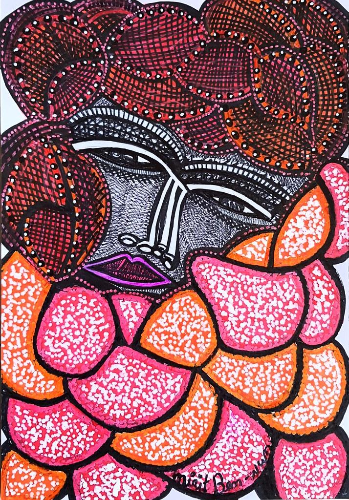 אמנים ישראלים ציורים רישומים פסלים מצוירים מירית בן נון
