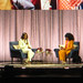 20190410_3 Michelle Obama & moderator talking about Michelle's book ''Becoming'' in Globen, Stockholm, Sweden