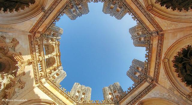 Bathala, Portogallo. Particolare dell'abbazia della battaglia realizzata in stile Manuelino, fiore all'occhiello dell'architettura portoghese