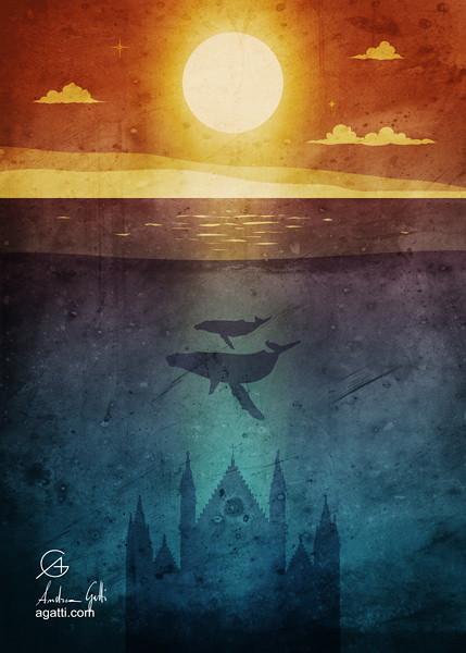 Orvieto whales twilight